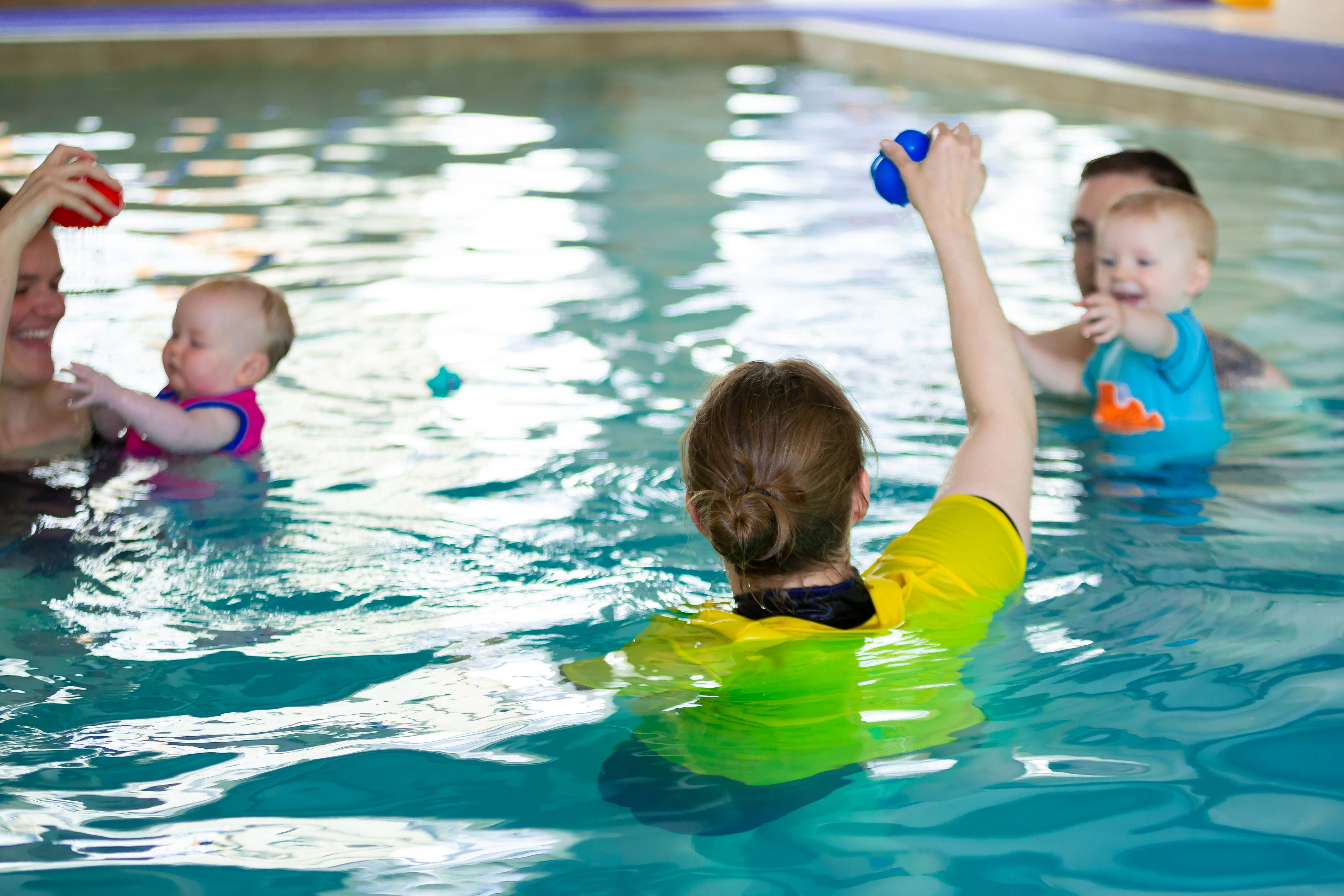 baby and toddler water confidence sessions